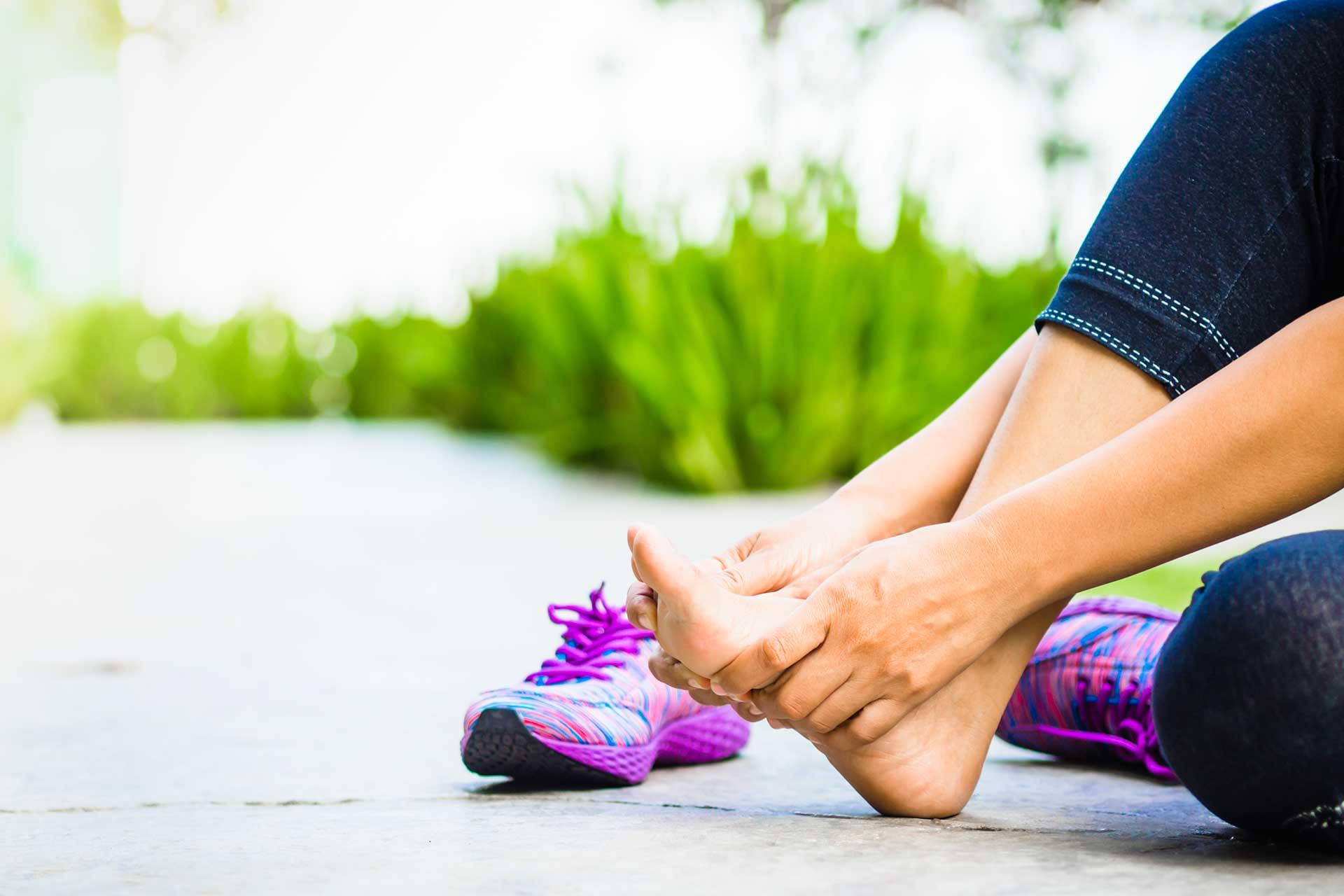 soin des pieds après le sport